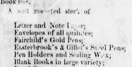 1864 Esterbrook in Vicksburg MS