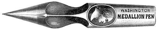 Washington Medallion pen engraving25pct
