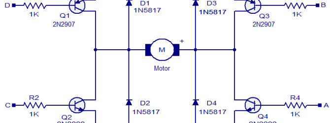 h-bridge motor driver diagram