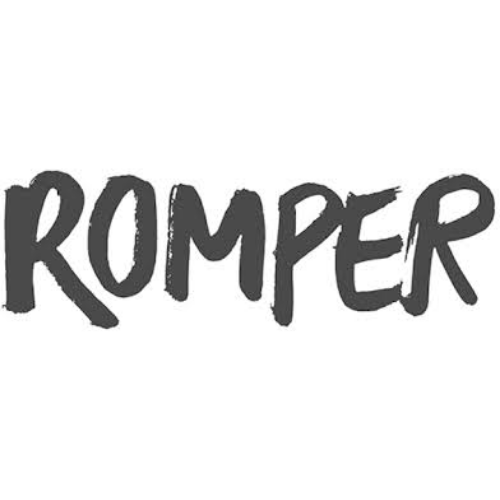 Romper logo with link to article