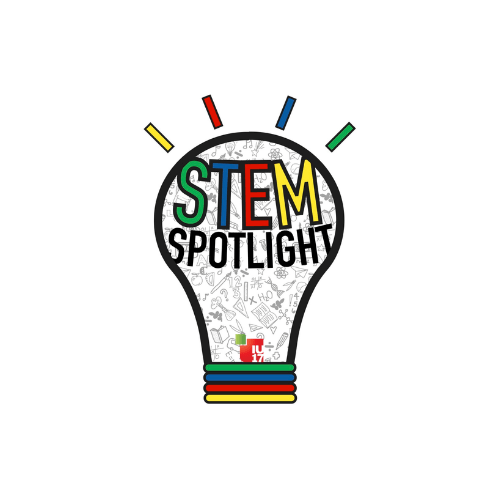 STEM Spotlight logo with link to Youtube video