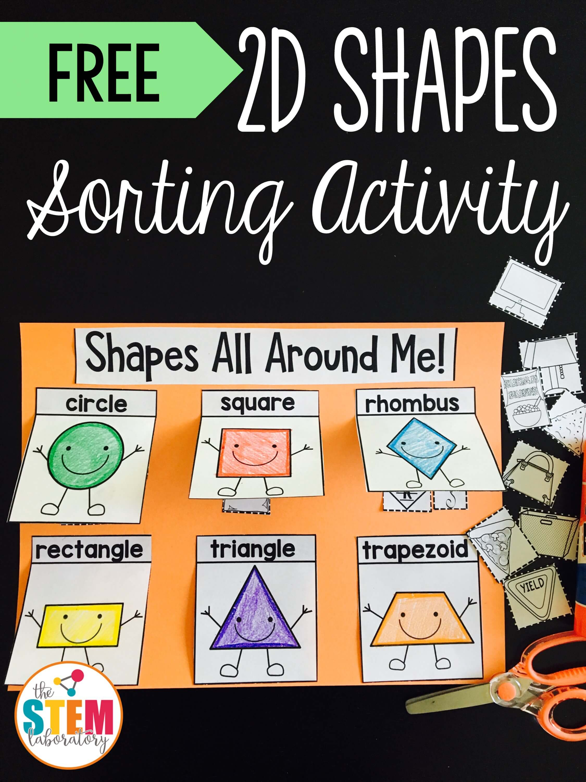 2d Shapes Sorting Activity