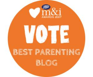 Boots Maternity & Infant Awards Best Parenting Blog Orange Advert