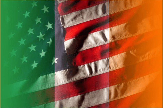 American & Irish Flag Overlap