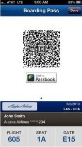 AlaskaAir IOS Boarding Pass