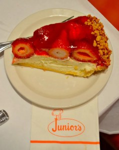 Strawberry Cheesecake at Junior's