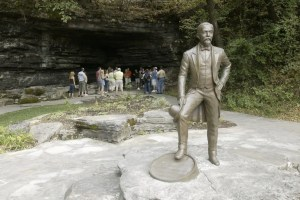 Jack on the Rocks in front of water source | Photo courtesy of Jack Daniel's Distillery