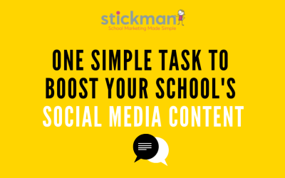 One Simple Task to Boost Your School's Social Media Content