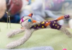 Madoka Angel's needle felted cat bracelet