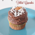 German Chocolate Filled Cupcakes