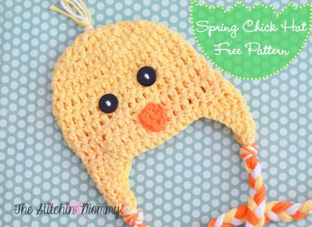 Crochet Spring Chick Hat - Free Pattern by The Stitchin' Mommy www.thestitchinmommy.com