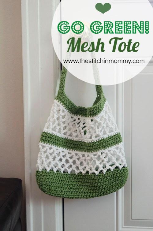 Go Green! Mesh Tote Pattern | www.thestitchinmommy.com
