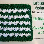 Silt Stitch Dishcloth Tutorial and Free Crochet Pattern