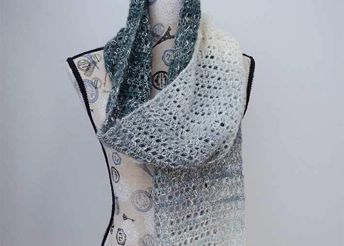 Grey Skies Scarf – Free Crochet Pattern