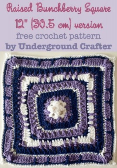 Raised-Bunchberry-Square-12-inch-version-free-crochet-pattern-by-Underground-Crafter-279x400