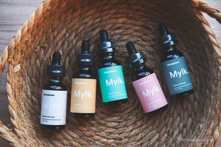 Hempbase Mylk CBD Oil in different flavors