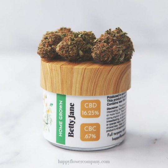 Image of Betty Jane hemp flower from Happy Flower Company