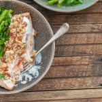 Baked Salmon with Crunchy Nut Crust