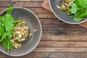 Burgers with Mint & Almond Salsa2
