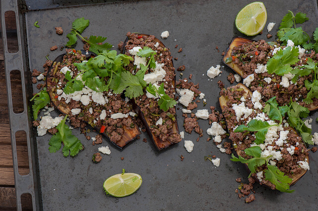 Mexican Roast Eggplant with Green Chorizo2 Recipe