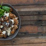 Smoky Eggplant & Sausage Bowls Recipe