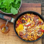 Spanish Frittata with Chorizo & Peppers2