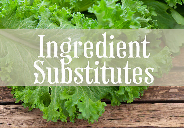 ingredient substitutes