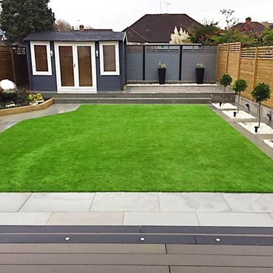 Grey sawn and shotblasted indian sandstone patio pavers