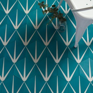 Lilypad Hex Marine Encaustic Tiles