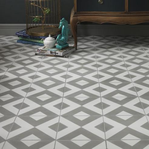 Modern Harlequin Encaustic Tiles