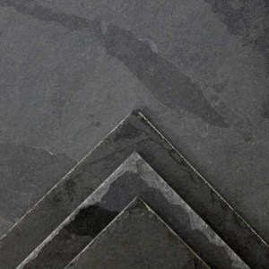 Black Brazilian Chiseled Edge Slate