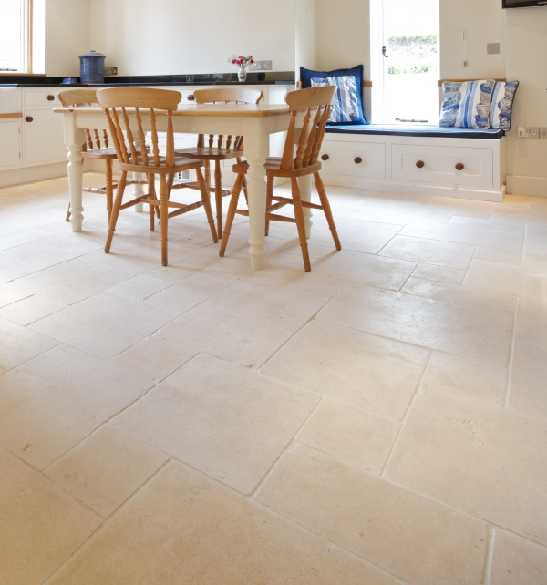 Bergamo Limestone Tumbled Finish Kitchen Tiles