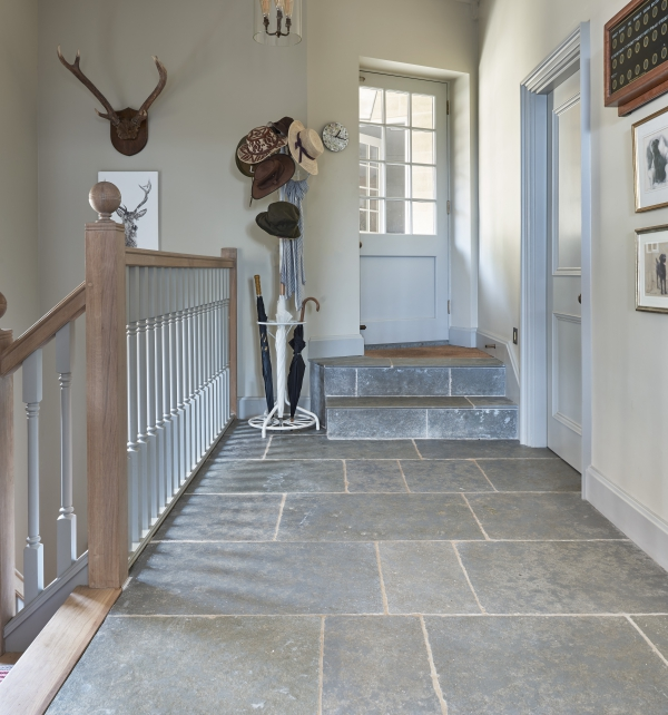 Denham Limestone Seasoned Finish Hallway Tiles