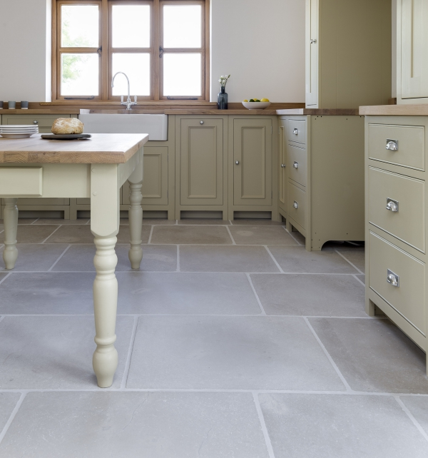 Eiffel Limestone Tumbled Finish kitchen tiles