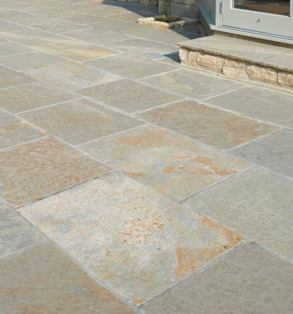 Farley Limestone Worn Finish Patio tiling