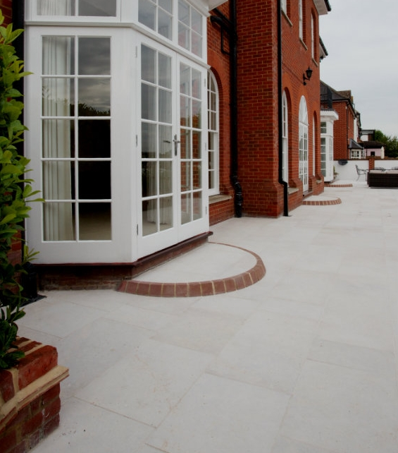 Hamlet Limestone Etched Finish external paving
