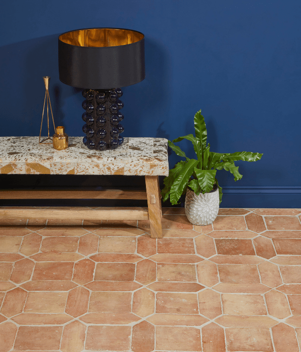 Marlborough Terracotta Square and picket design situated in a reception hall