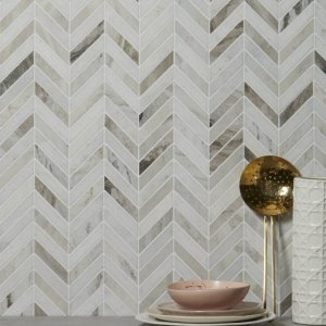 Milan Bronze Marble Mosaic Wall Tiles Close Up