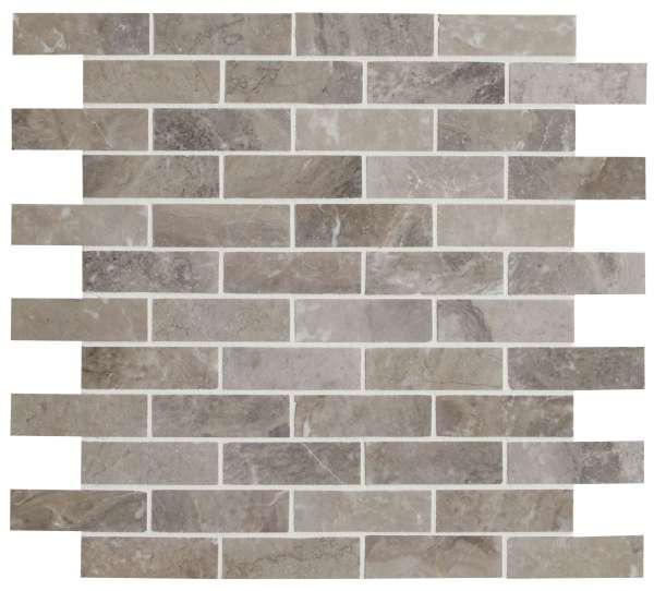 Palladio Marble Slim Brick Mosaic Close Up