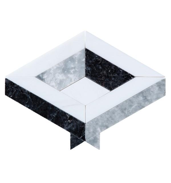 Paris Marble Mosaic Close Up