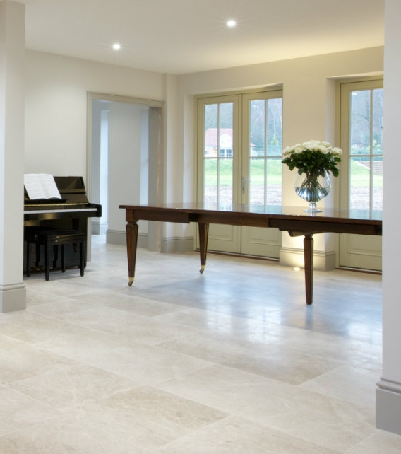 Piccadilly Honed Limestone in a sophisticated reception hall