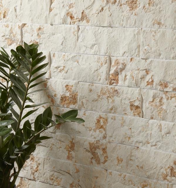 Rockface Brick Bergamo Limestone Wall Tiles