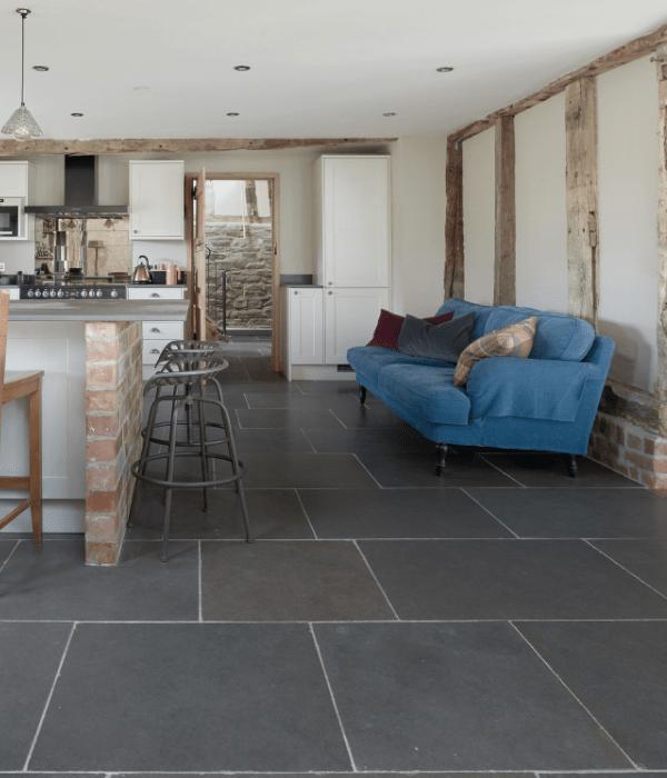 Tyrone Tumbled Limestone in a Kitchen setting