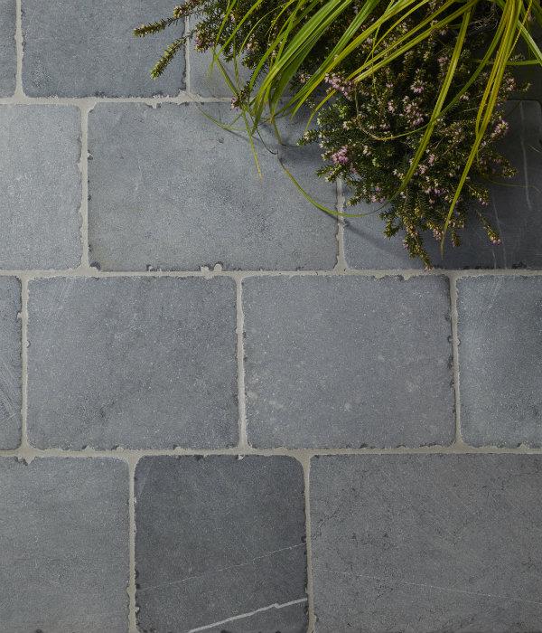 Wexford Blue Limestone Cobble Tumbled Finish Birds Eye View