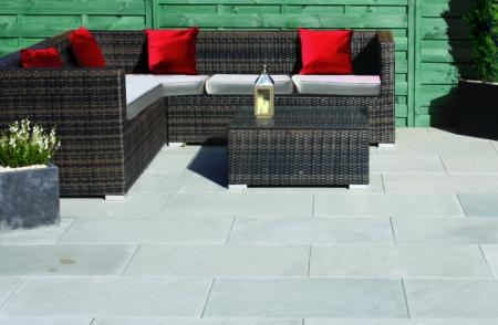 grey natural stone patio slabs