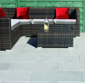 grey natural stone patio slabs