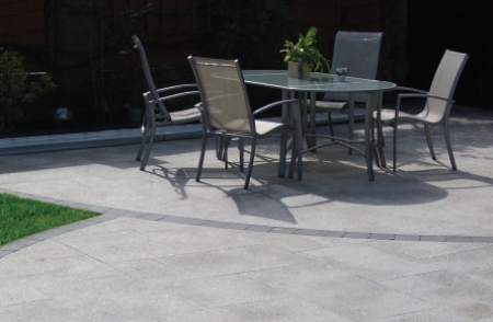 Birch natural granite stone patio paving