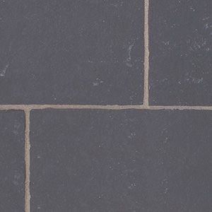 Black natural stone patio pavers