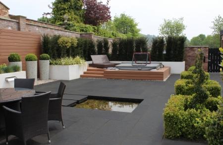 noir gold natural stone patio paving