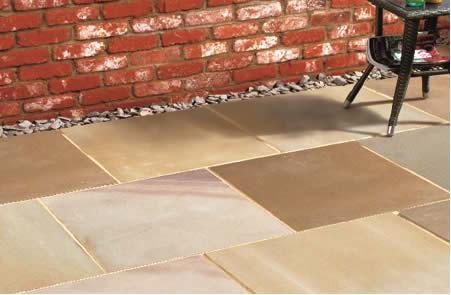 Rydal natural sandstone patio slabs